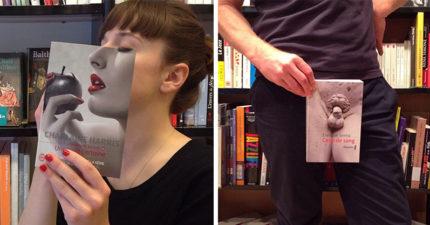 30張讓你發現圖書館比手機有趣的「書與人合體」爆笑照!