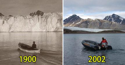 7張證明根本就不用存錢「反正我們活不到未來」的北極100年全球暖化前後對比圖!