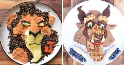 18張媽媽為了讓兒子吃的健康做出的「超猛動畫人物」有機料理!
