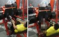男子高估自己挑戰「超重」舉重機,他的腿直接「爆」恐佈到網友看不完影片!