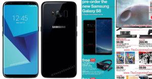 三星最新Galaxy S8的「發售日期和真正模樣」不小心被零售店「印在傳單上」曝光...