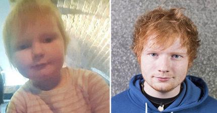 2歲女娃「太像紅髮艾德根本私生女」網友抓狂 媽媽:她超愛看到紅髮艾德!