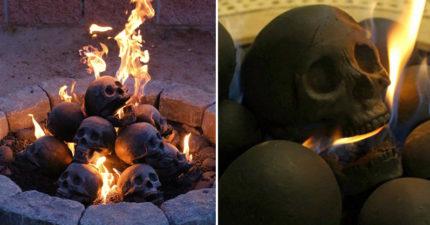 如果你覺得家裡陰氣不夠的話,這款「可燒的骷髏頭」會讓你家中充滿超猛黑暗氣息!