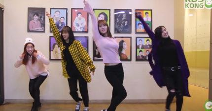 TWICE其中4成員挑戰《Knock》「2倍速度跳舞」,網友發現有人身材「超兇狠」!