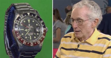 老先生帶著「舊手錶」到古董拍賣會,聽到「預估價值」感動到泛淚!