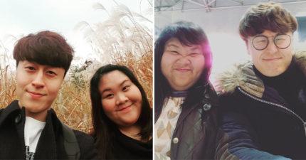 印尼女孩交韓國歐巴被酸「又醜又胖配不上」,超帥男友PO「跪下照」把酸民臉打爆!(12張)