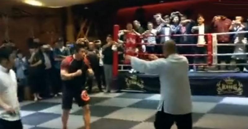 太極宗師 VS MMA綜合格鬥家PK賽,10秒鐘比賽就用最慘方式結束...