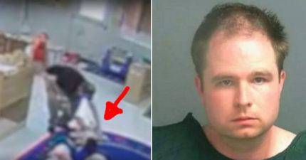 托兒所職員把小女孩嘴上的血擦掉,隱瞞他幹的好事!好險監視器全拍下了!