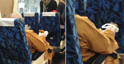 尼姑火車上邊啃雞邊大聲「給你做善事,善款都匯錯,你豬啊?」網友:「啃雞腿沒錯啊!」