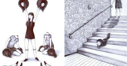 26張「已經不輸伊藤潤二」的超恐怖義大利插畫家傑作!看完後你才會發現自己內心有多黑!