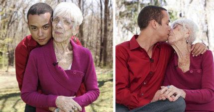31歲男子戀上91歲阿嬤「不介意胸部下垂」,阿嬤透露:「我把腿放到他肩膀上!」