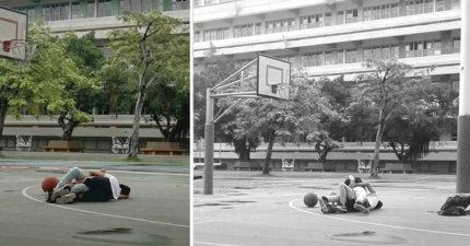 國小生現在有多成熟?「激情肉搏」直接上  網友:「一個打手球,一個打乒乓球!」