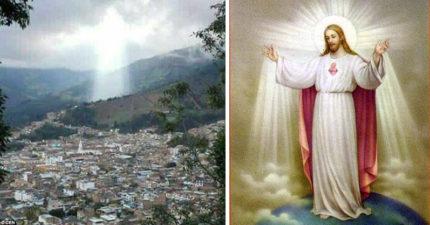 哥倫比亞出現「耶穌光茫化身」還張開雙手,但民眾發現這跟「17人意外死亡」有密切關聯!(影片)