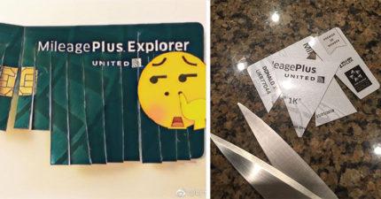 中國網路出現「剪卡潮」抵制聯航,1.8億人罵爆「聯航種族歧視」!聯航完蛋了!