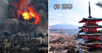 2016全球和平報告:全世界居然只有10個國家現在沒在打仗!台灣慘退步!