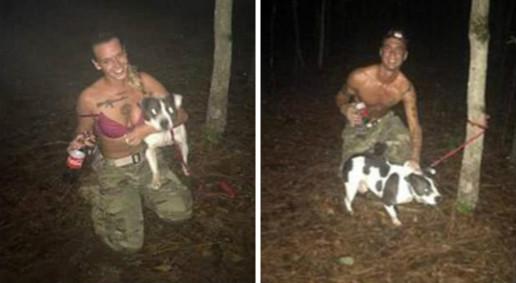 女士兵把心理輔導犬綁樹「連射5槍虐殺」軍人男友一旁錄影,她:「你是隻好狗狗,但...」