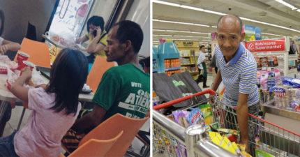 還記得「自己不吃給女兒吃的無私父」嗎?現在他穿梭超市給孩子更多幸福