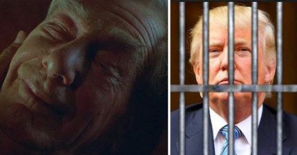 老先生在病床上聽到家人說「川普被罷免了」,閉上眼一臉滿足的離開世界...
