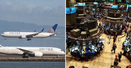 聯航事件現世報股價「快速自由落體」,民眾抵制開盤「市值瞬間蒸發250億」。