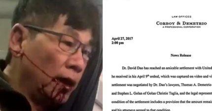 聯航暴力拖人事件跟受害醫師「達到和解」,金額到了一個恐怖的高度!