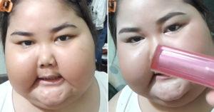 超美五官的肉肉女「美妝教學」超吸睛,化完妝後的樣子更讓人無言!