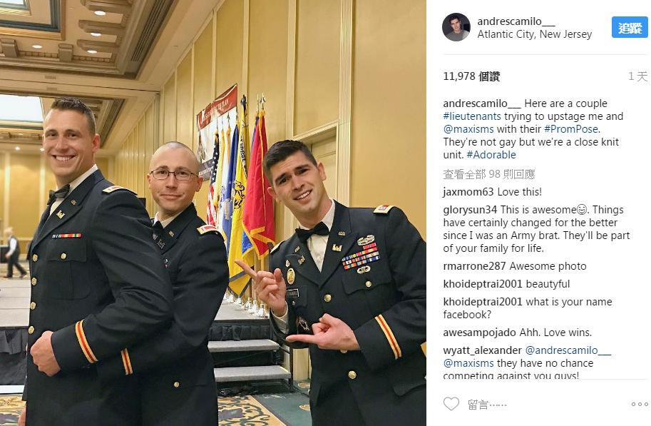 高顏值天菜同志不顧眼光「帶男友參加軍隊舞會」,「兩人甜蜜裸合照」讓網友感動到哭啦!