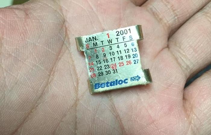 很多台灣阿公都有的「印有月曆的鐵片」真正用途到底是什麼?根本就是最完美設計啊!