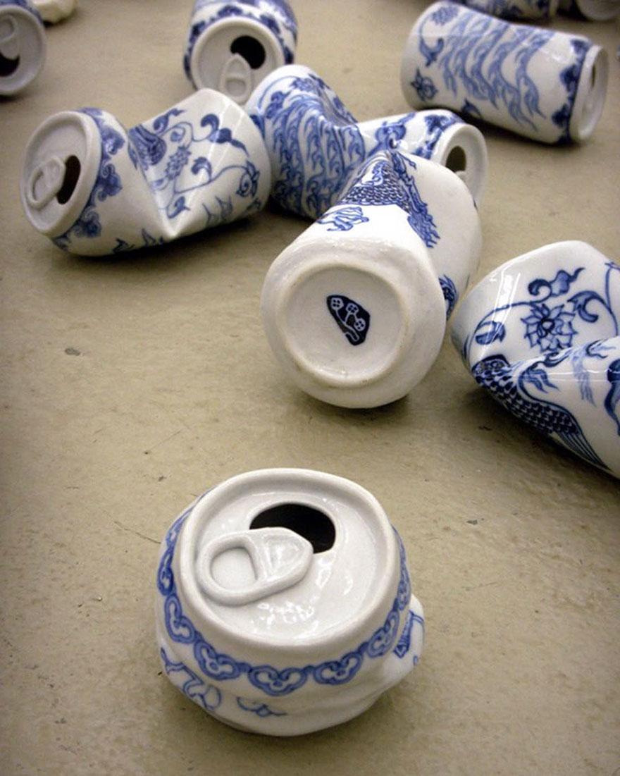 這些到底是汽水罐還是「明朝式陶瓷」?最美的穿越時空違和感!