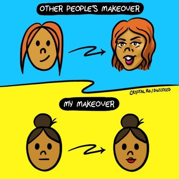 15張只有女生才會覺得好笑的「女性甘苦漫畫」。#5脫掉沾滿汗的運動胸罩時...