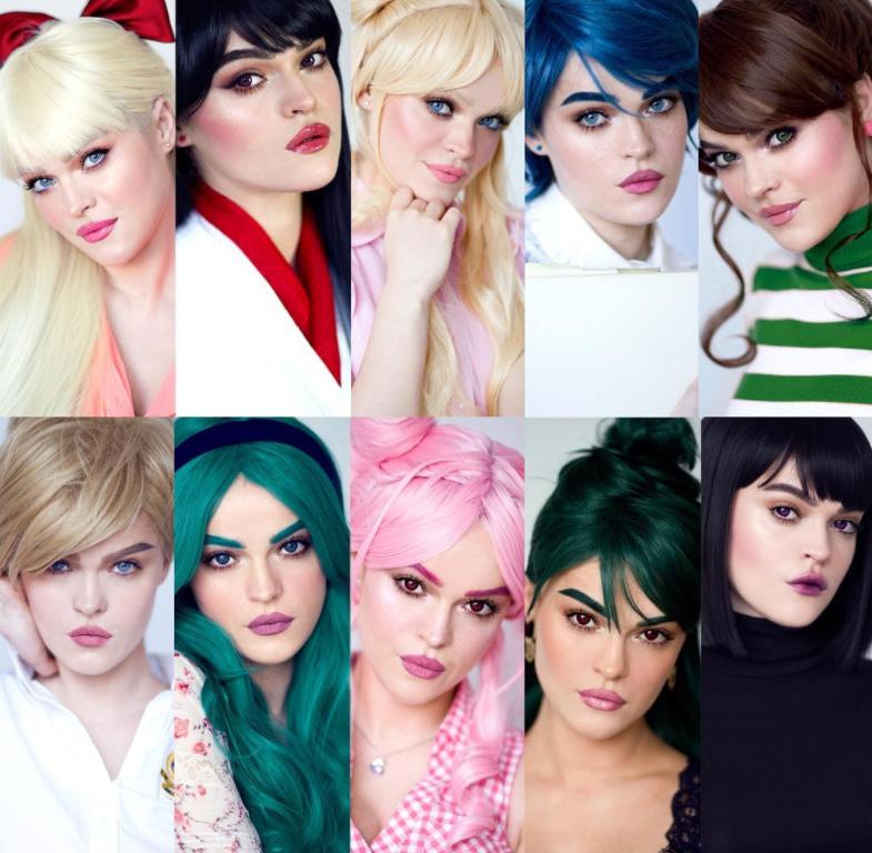 她用化妝神技讓自己「變身10位美少女戰士」 土星還綜合了埃及豔后妝容!
