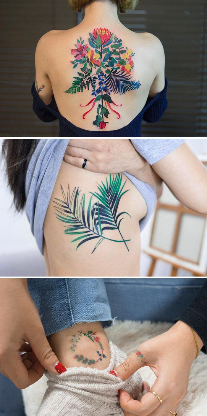 30款會讓你「比日本櫻花都美」的一年四季開花超美花朵刺青!