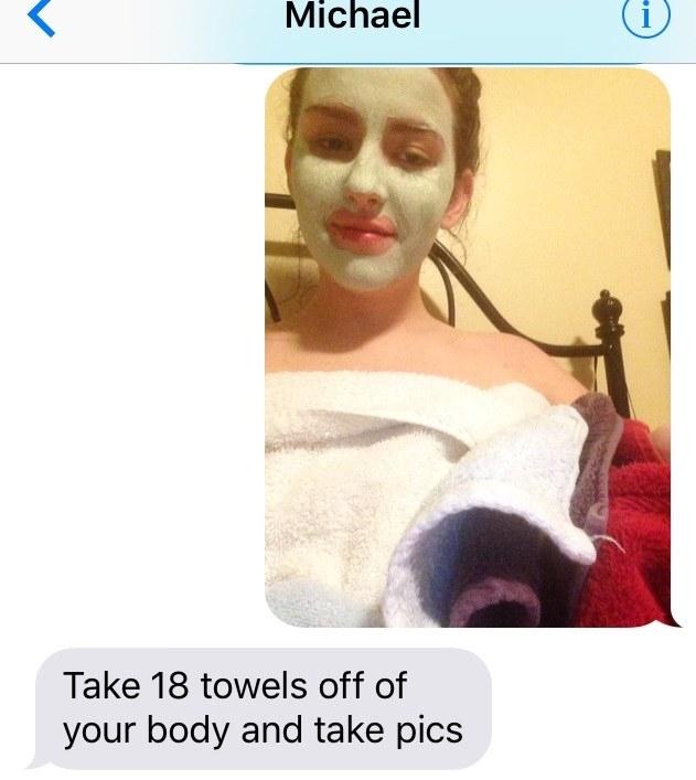 小色男要求女生「拍全裸照給他」,女孩脫掉18條毛巾「脫掉最後一層」男生氣到有心臟病了!
