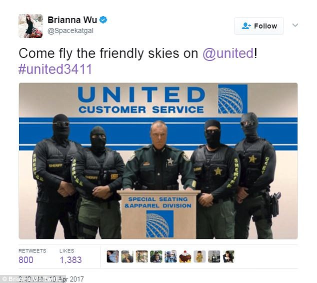 People imagined United staff as anything from WWE wrestlers and football players, to an armed SWAT team, as they 're-accomodated' an elderly passenger