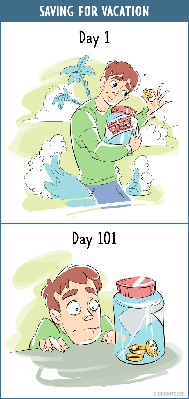 13個證明人類本性懶惰「第1天 VS 第101天」態度差超大中肯漫畫
