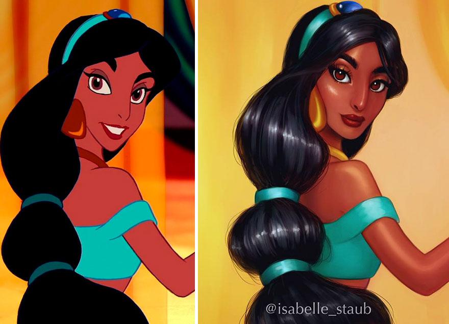 12張把已經很美的迪士尼公主「真人化」圖片!寶嘉康蒂最正!