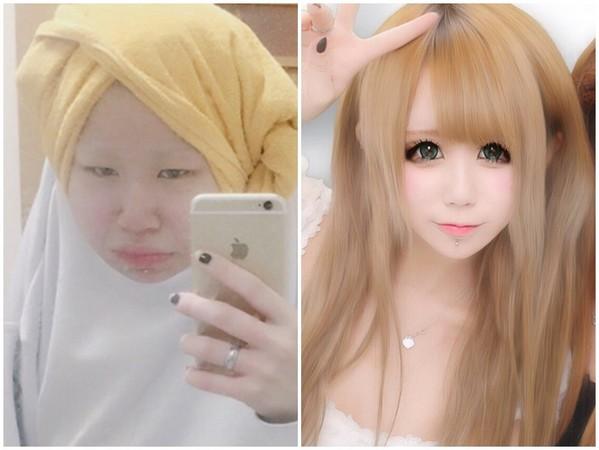 日本正妹PO素顏照「根本換一個人」秒變8+9!網友:求心理陰影面積