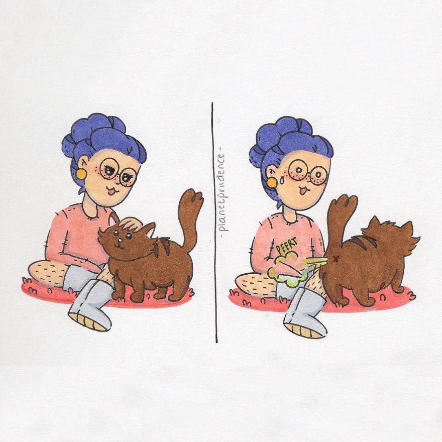 20張「喜歡低調的懶懶女生才看得懂」魚乾女的日常煩惱爆笑漫畫。