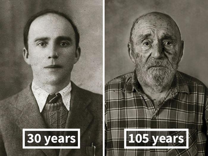 13位「年紀過百」的老人跟年輕的自己比對照!讓你看到你老年時「剩下的最重要東西」!