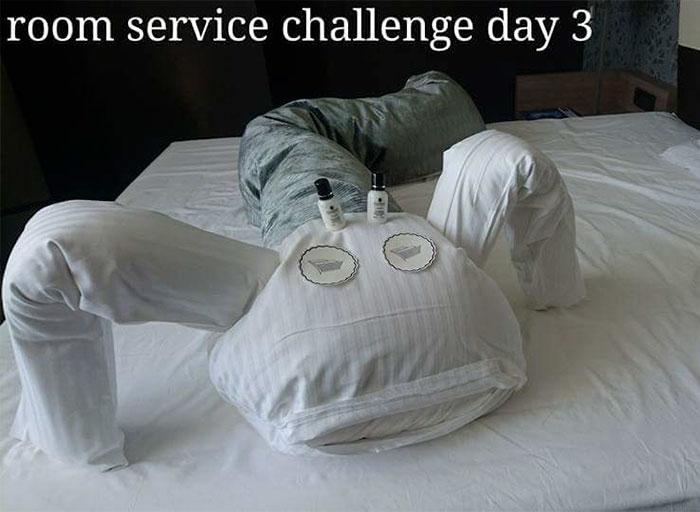 無聊旅客決定和「打掃人員創意PK」 第10天嚇慘:麥擱玩了