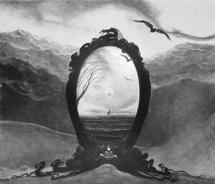 30張其實就是重現你惡夢的「現實化惡夢場景畫作」!#12 大家應該都有夢過類似的鏡子!