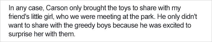 媽媽教兒子「別跟其他孩子分享你的玩具」讓家長們氣炸,她說出背後「正確教育」20萬網友力挺!