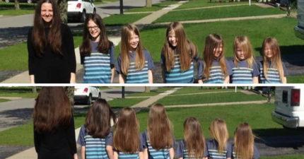 她帶6兒子「留長髮」受盡白眼 這天「一口氣剪掉」才曝光感人原因!