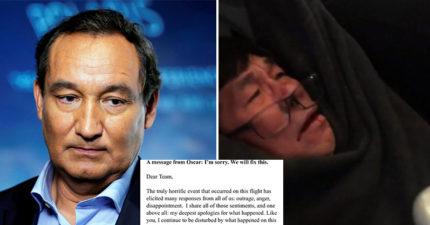 最新道歉!聯航CEO急發聲明提「4大承諾」被嗆翻!強拖男「一切都受傷了」把他臉打爆!