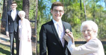 17歲孫「邀93歲奶奶約會」卻被拒絕,連續問365天終答應成「全場最美舞伴」朋友搶握手!