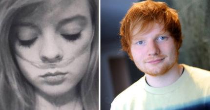 紅髮艾德在她耳邊溫柔清唱,接著15歲少女就微笑離開這個世界了。