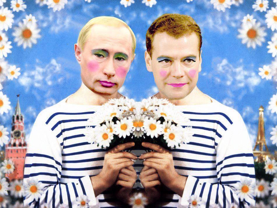 俄國嚴重警告「繼續轉發這張普丁化妝同志圖片」,就會被關5年!網友看到「公文」全部變檸檬!