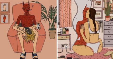 40張完全把女性讓任何人看到的「內心性取向惡魔」驚人插畫。證明我們看到的都只是表面啊!