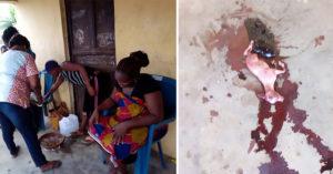 女子懷孕長達2年後在全村人的圍觀下,生出了「像羊一樣」的生物... (影片)