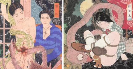 28張完美融合「唯美肉體+恐怖獵奇」的浮世繪大師作品。#13 讓腐女的小宇宙爆炸!(兒童不宜)