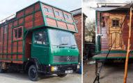 男子便宜購入舊式「運輸馬的卡車」,花220萬改裝後裡面變成讓你不想離開的「童話級終極空間」!